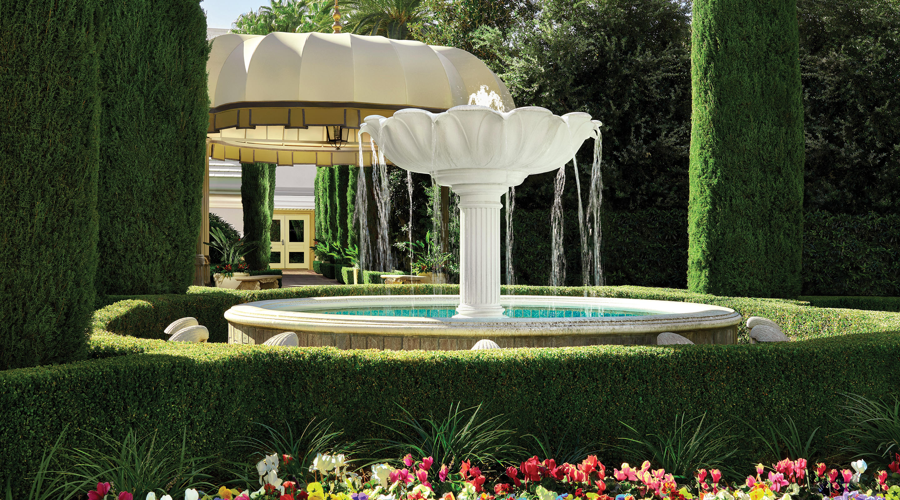 A fountain located in a Mirage Villa.